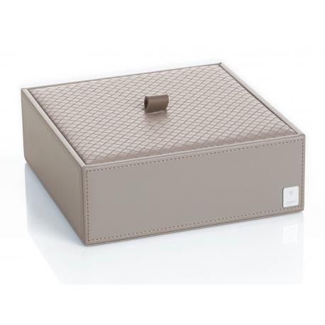 Pudełko z przykrywką małe poziome szare JOOP! Bathline 010990413