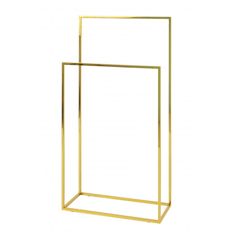 Podwójny stojak na ręczniki złoty GH Design