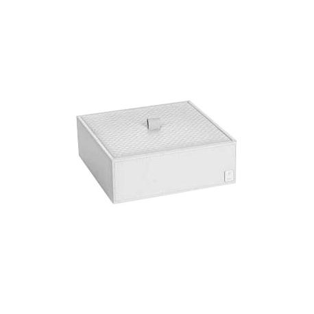 Pudełko z przykrywką małe białe