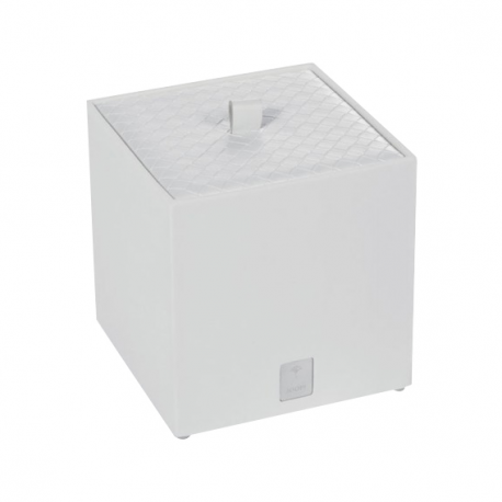 Duże pudełko na kosmetyki białe