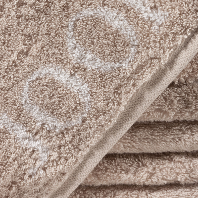 Ręcznik frotte beżowy JOOP! Sand Classic Doubleface 1600